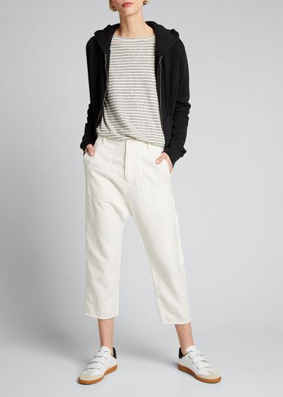Luna Cotton-Linen Cropped Pants