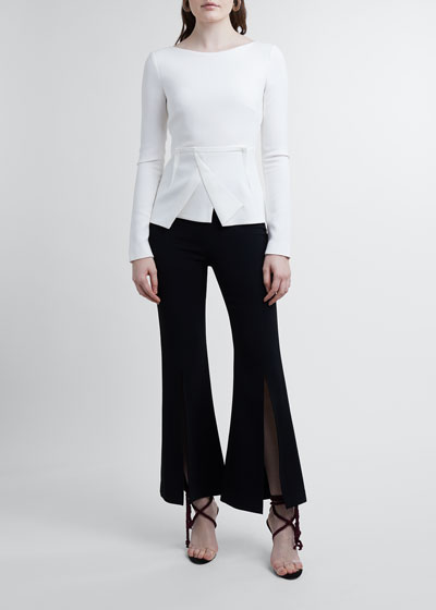 Parkgate Front-Slit Cropped Pants