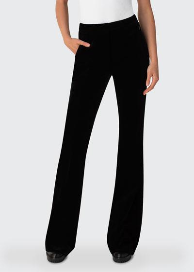 Velvet Bootcut Trousers