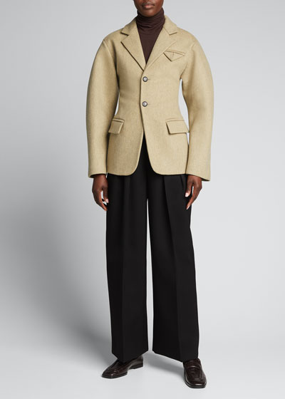 Pleated Top Trousers