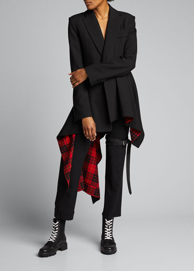 Belted Upside Down Skinny Trousers