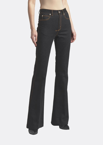 Boot-Cut Jeans with Contrast Stitching
