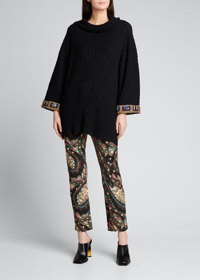 Paisley Swirl Denim Jeans