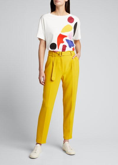 Abstract Print Cotton T-Shirt