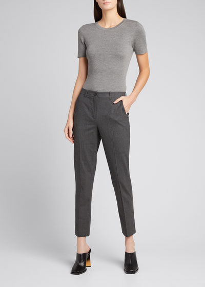 Samantha Cropped Stretch Wool Pants