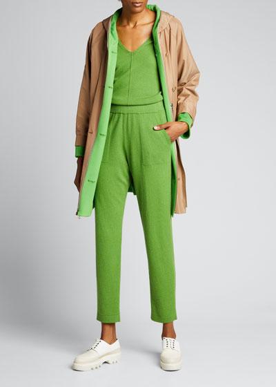 Cashmere Side-Zip Conical-Leg Pants