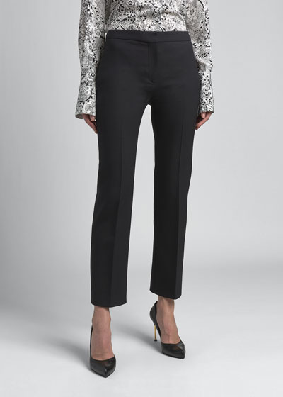 Wool-Silk Cigarette Pants