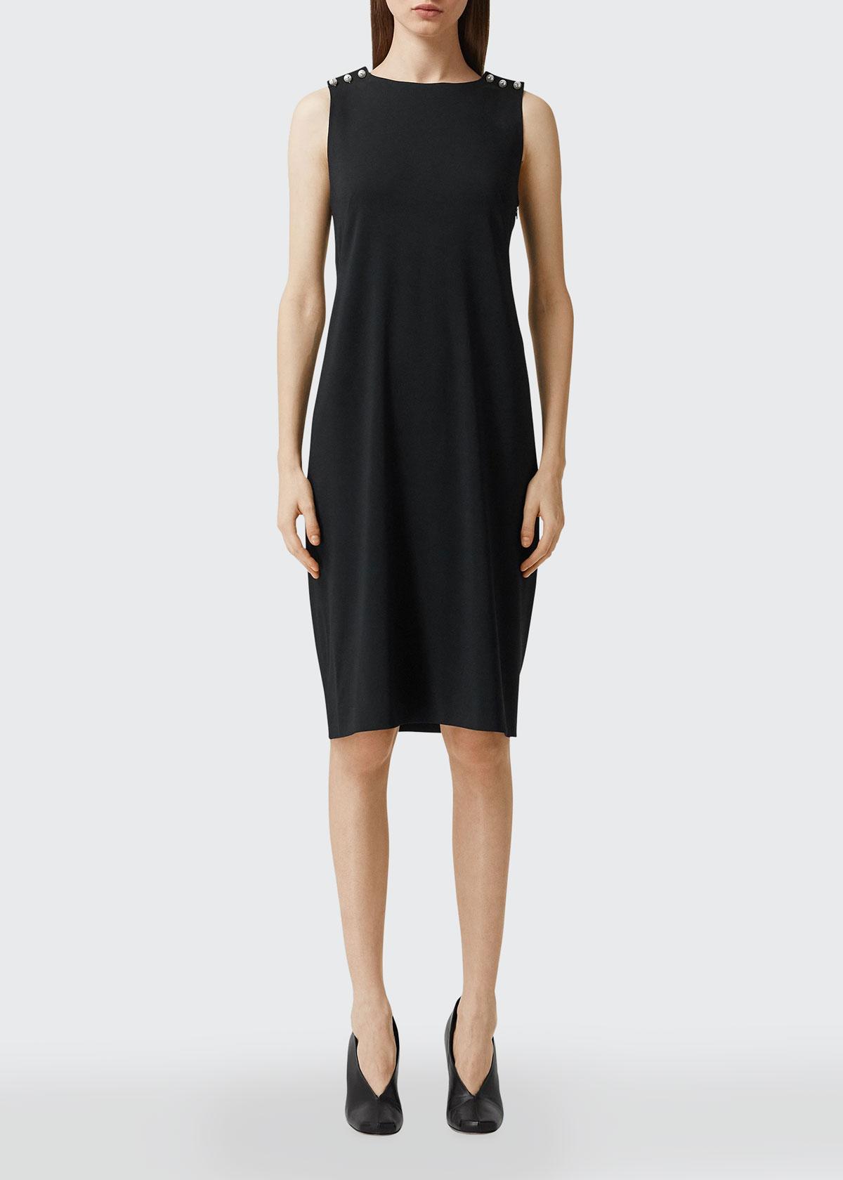 Burberry PEARL CRISSCROSS BACK SHIFT DRESS
