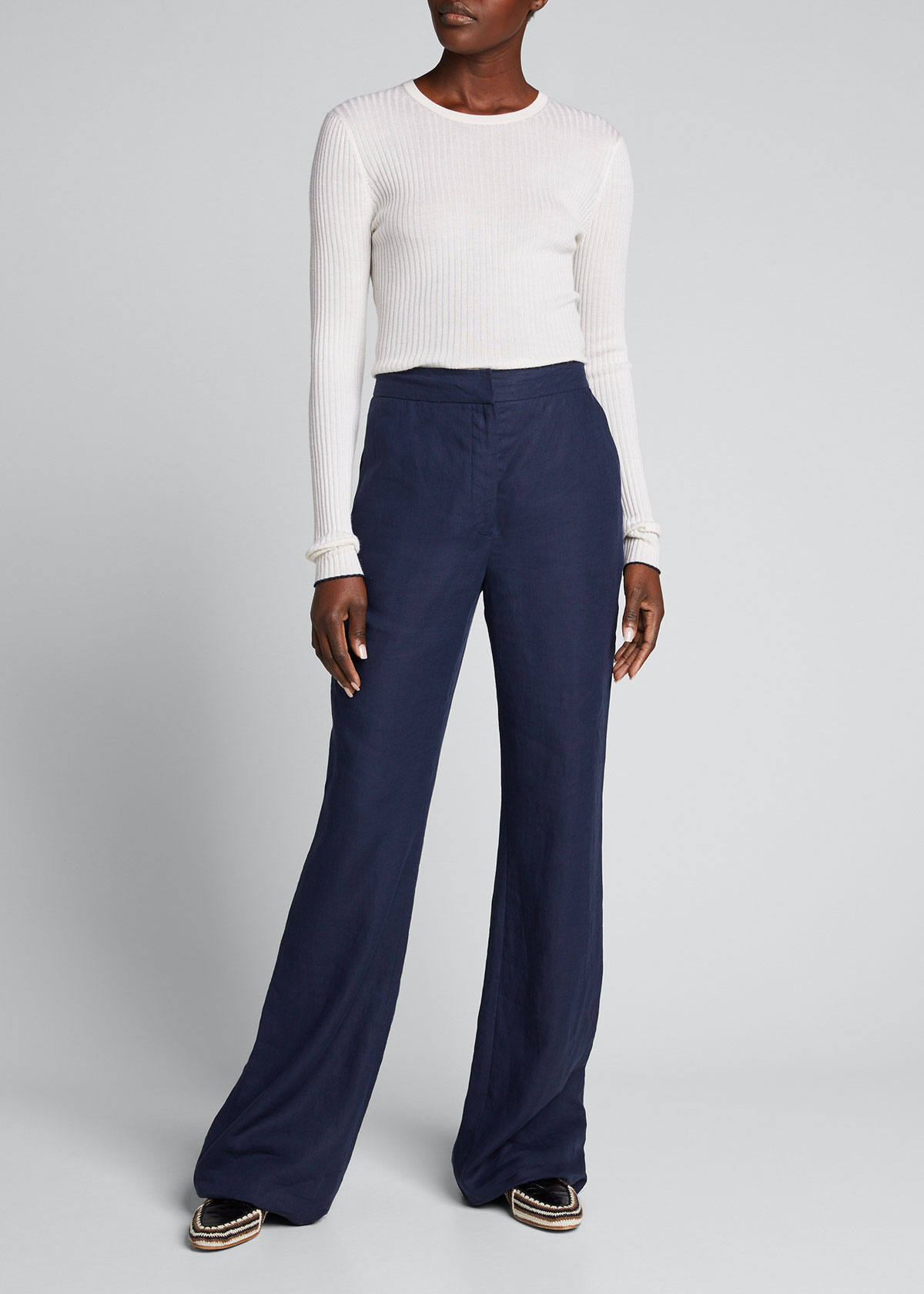 Gabriela Hearst BROWNING RIBBED CASHMERE-SILK SWEATER