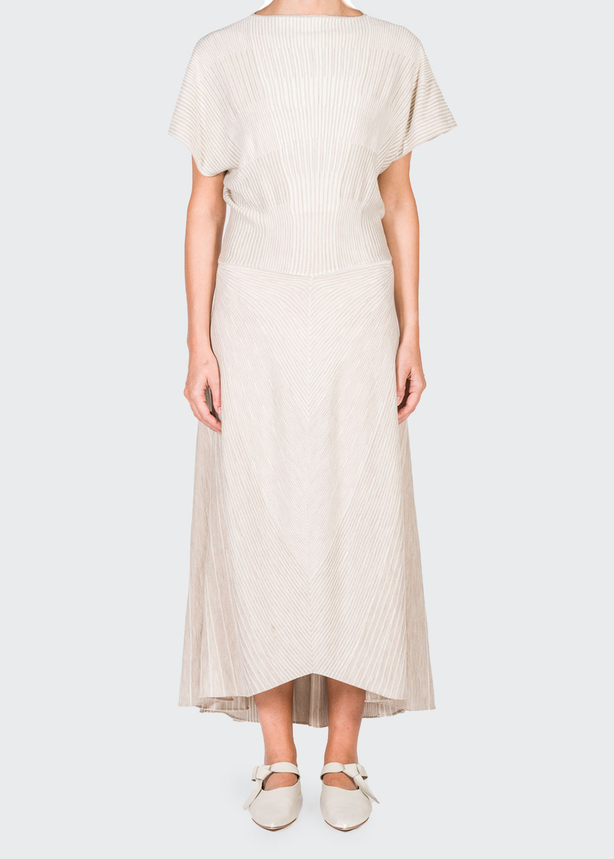 Agnona RIBBED WOOL MIDI DRESS