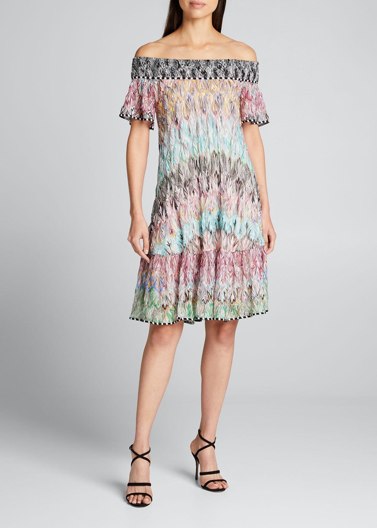 Missoni Dresses OFF-THE-SHOULDER PRINTED A-LINE DRESS