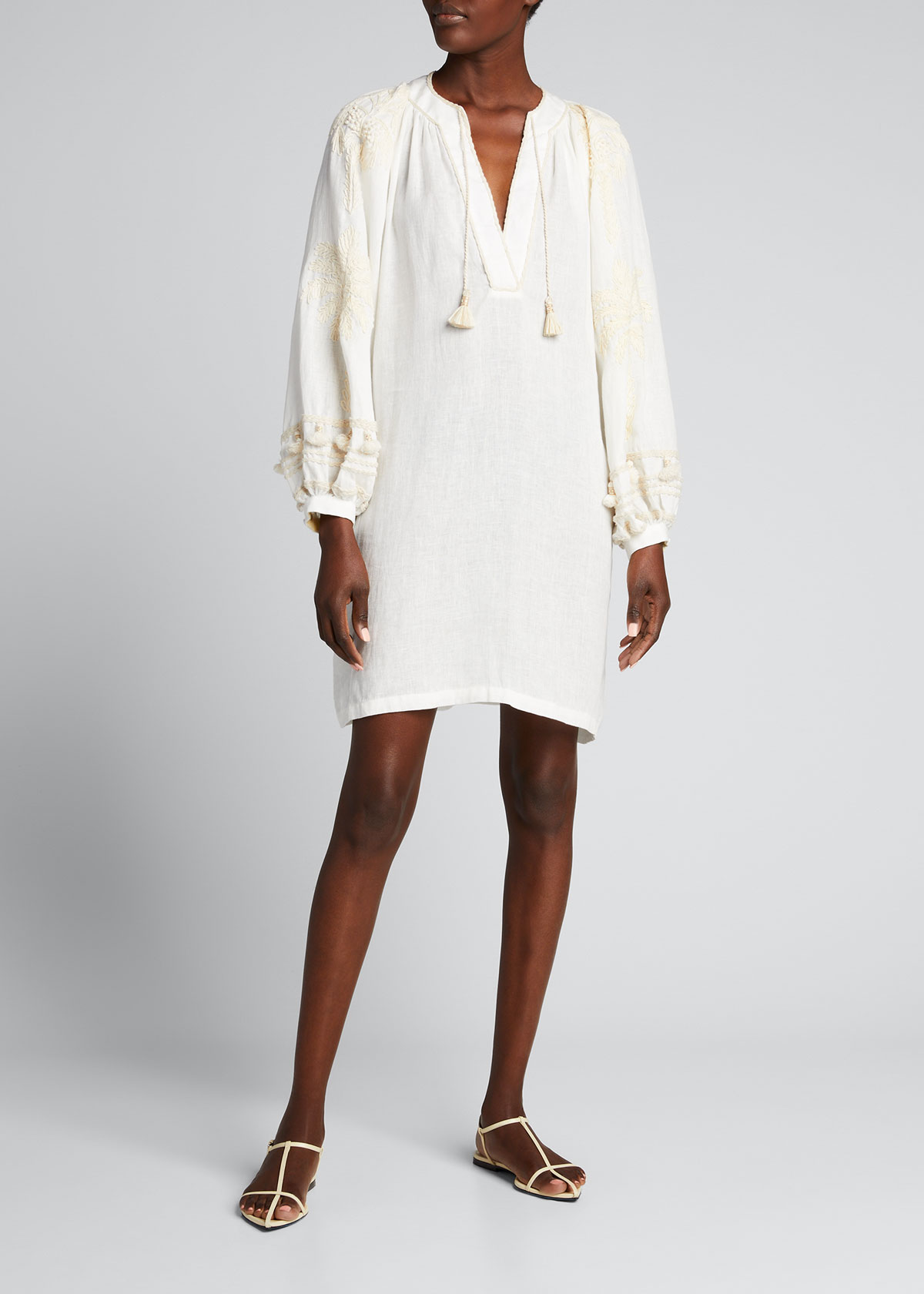Johanna Ortiz TAPESTRY OF DREAMS EMBROIDERED-SLEEVE DRESS