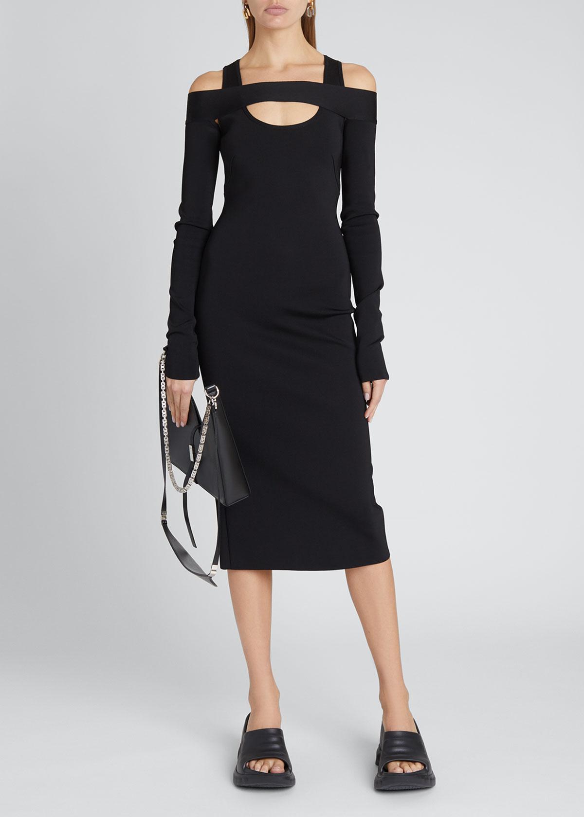 Givenchy Dresses 18GG KNIT SQUARE-SHOULDER MIDI DRESS