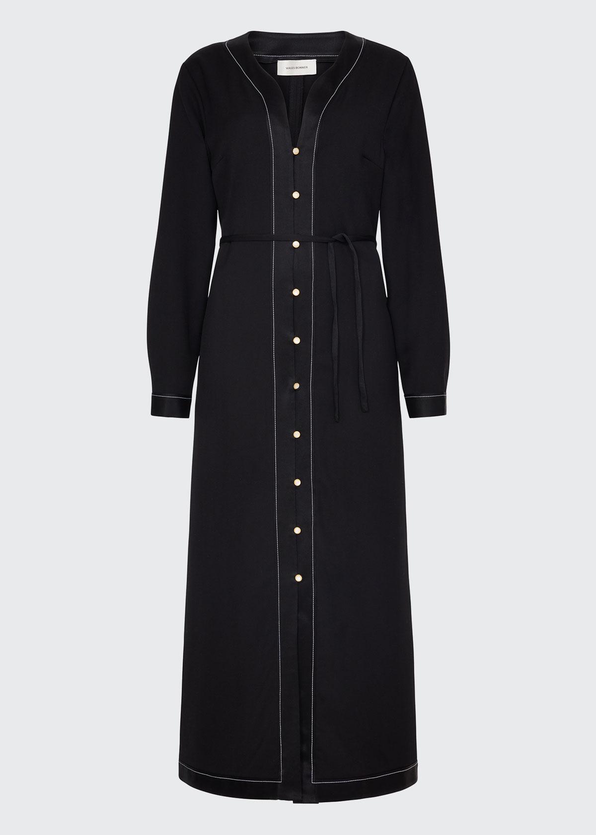Wales Bonner Robes WOOL CAFTAN DRESS