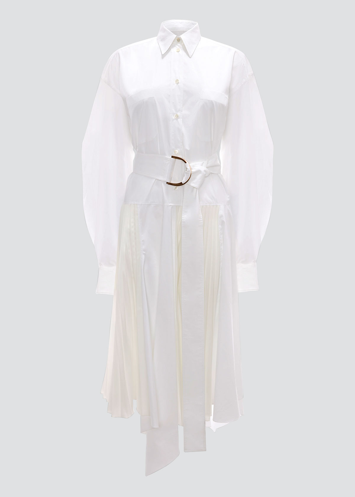 Jw Anderson Clothing PLEATED D-RING SHIRTDRESS