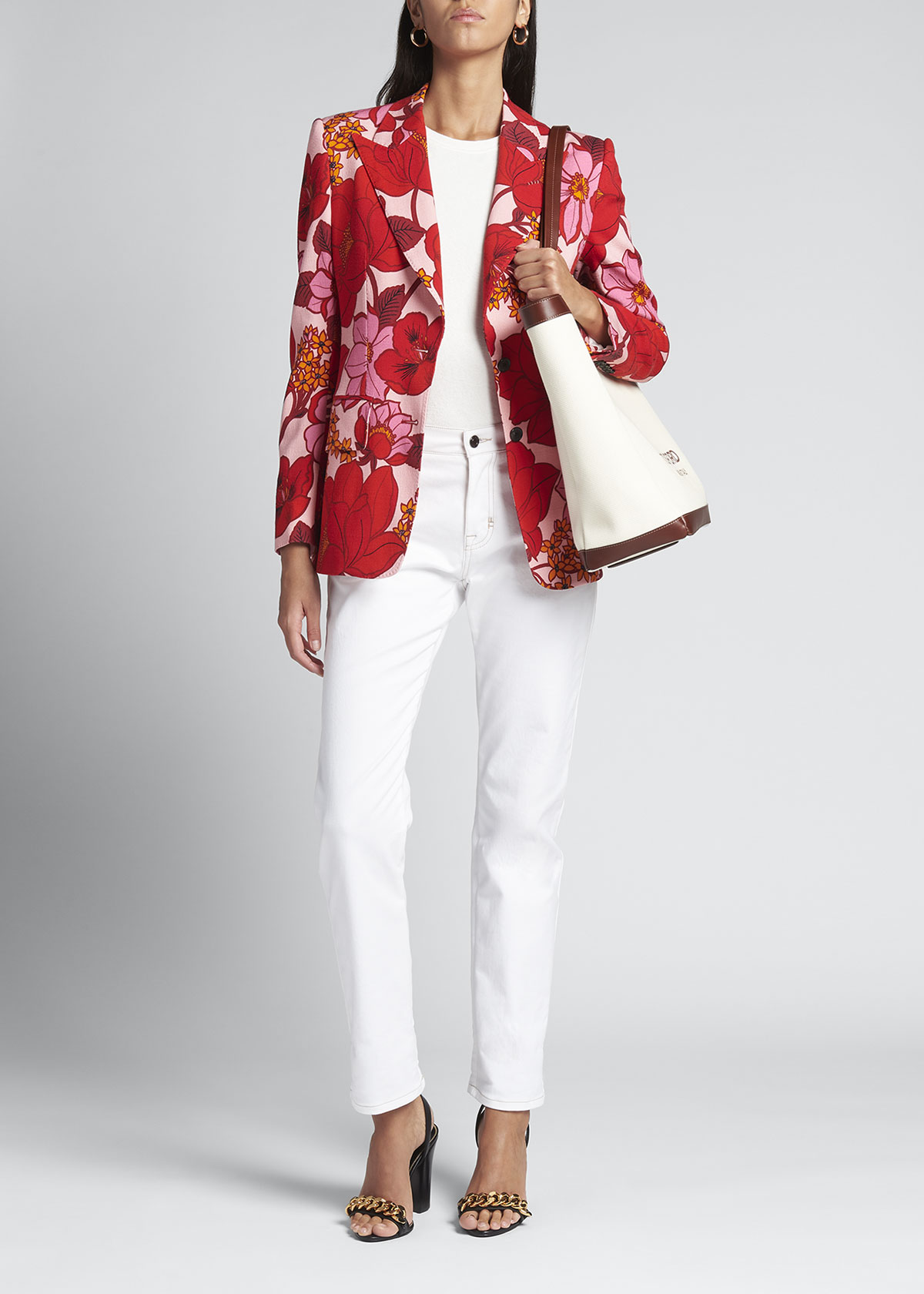 Tom Ford ORIENTAL FLORAL-PRINT TAILORED JACKET