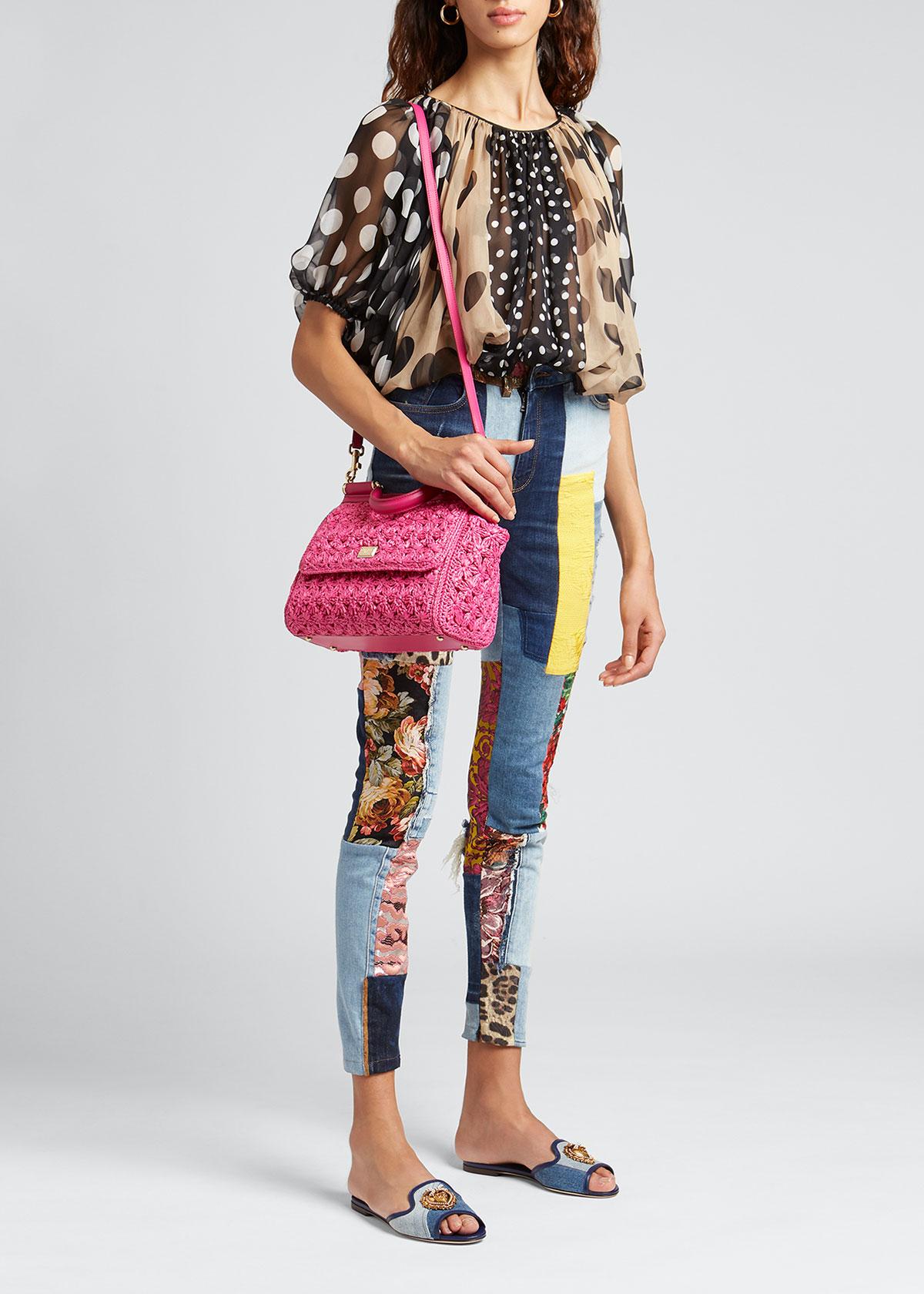 Dolce & Gabbana DESTROYED PATCHWORK SKINNY JEANS