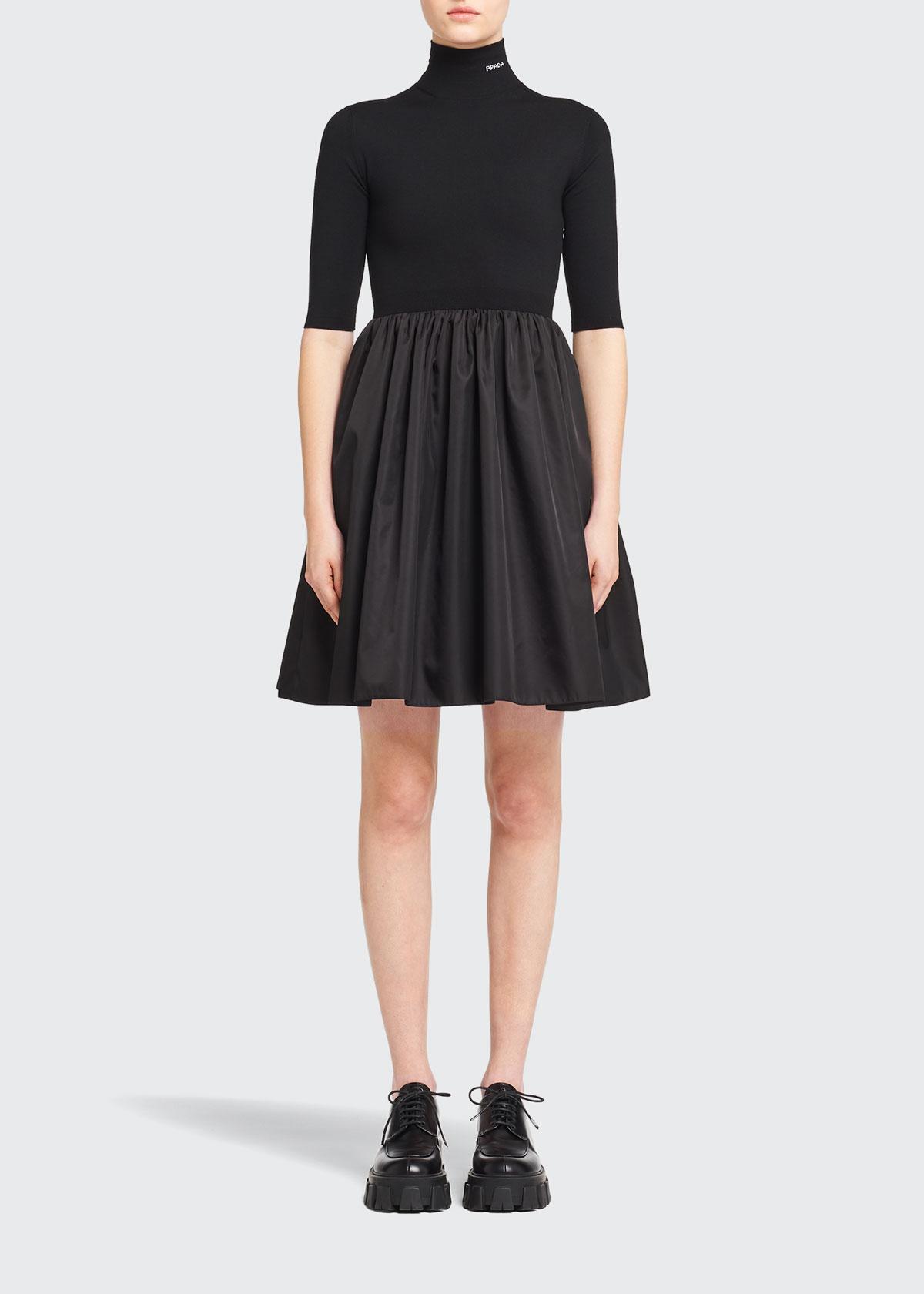 Prada RE-NYLON FIT-&-FLARE DRESS