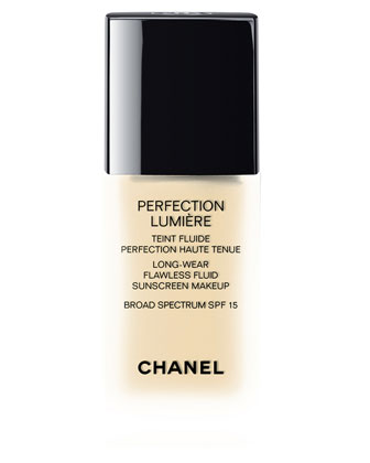 CHANEL Perfection Lumiere Long-Wear Flawless Fluid Sunscreen Makeup Broad Spectrum SPF 15