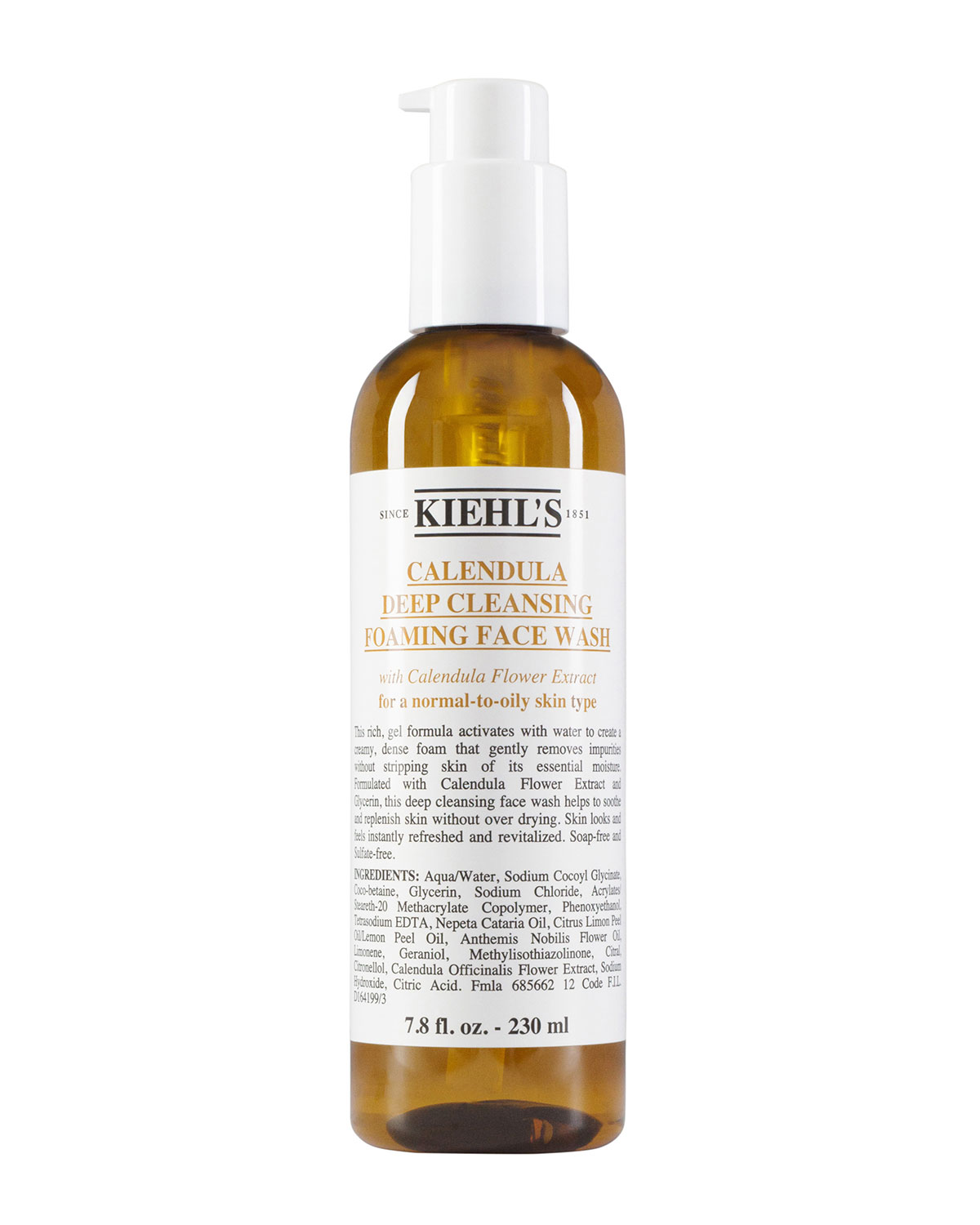 Kiehl's Since 1851 Calendula Deep Cleansing Foaming Face Wash, 7.8 oz In Brown