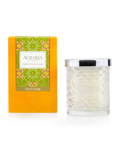 Lime and Orange Blossom Cane Candle