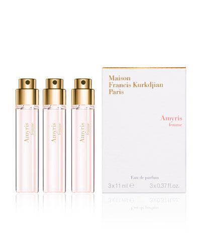 Amyris femme Eau de Parfum Spray Refills, 3 x 0.37 oz.