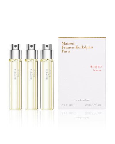 Amyris homme Eau de Toilette Travel Spray Refills, 3 x 0.37 oz./ 11 mL