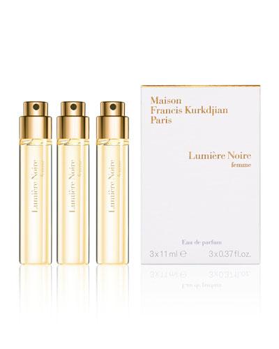 Lumière Noire femme Eau de Parfum Spray Refills, 3 x 0.37 oz.
