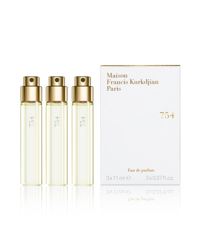 754 Eau de Parfum, Travel Refills, 3 each 0.37 fl. oz.
