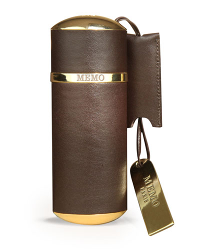 Purse Spray Leather Brown Empty, Holds 30 mL