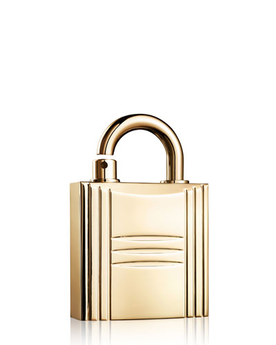 Refillable Lock Spray, Gold Tone