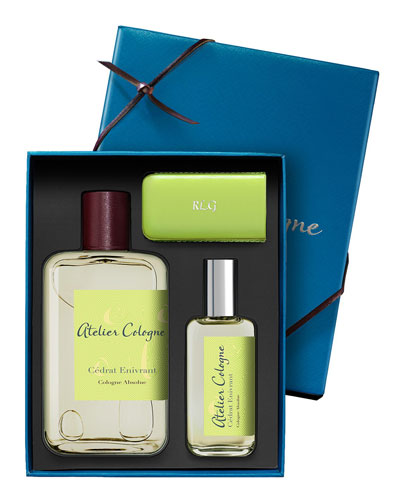 Cedrat Enivrant Cologne Absolue, 200 mL with Personalized Travel Spray, 30 mL