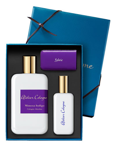Mimosa Indigo Cologne Absolue, 200 mL with Personalized Travel Spray, 1.0 oz./30 mL