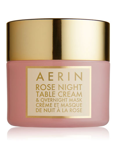 AERIN Rose Night Table Cream & Overnight Mask,