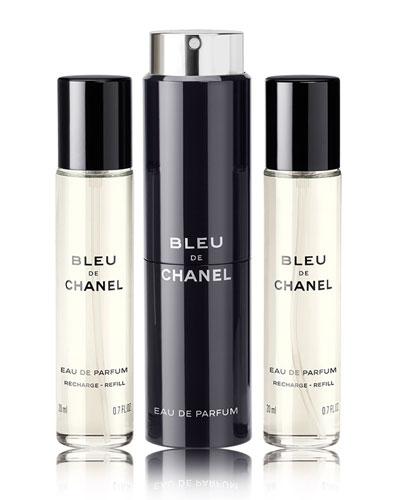 Bleu De Chanel Travel Spray Set, 0.7 oz./