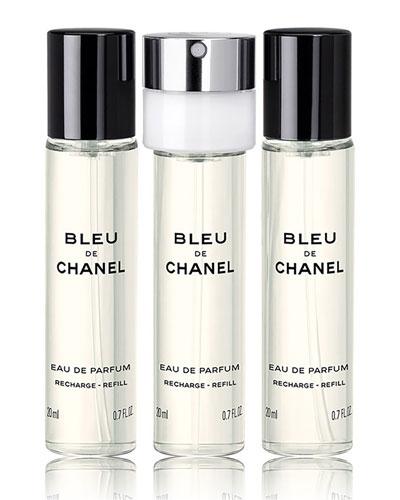 <b>BLEU DE CHANEL</b><br>Eau de Parfum Pour Homme Travel Spray Refills