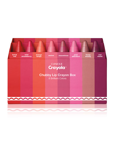 "Clinique Crayolaâ""¢ Chubby Stickâ""¢ in Crayon Box in 8 Brilliant Colors"