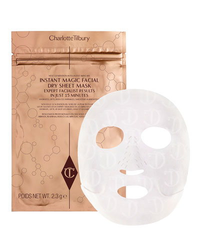 Instant Magic Facial Dry Sheet Mask, 4 pack