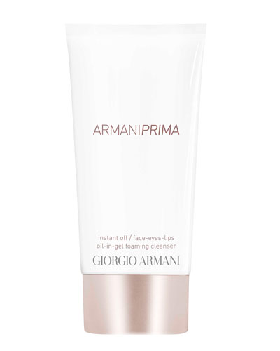 Armani Prima Oil-in-Gel Instant Off Face & Eyes & Lips Foaming Cleanser