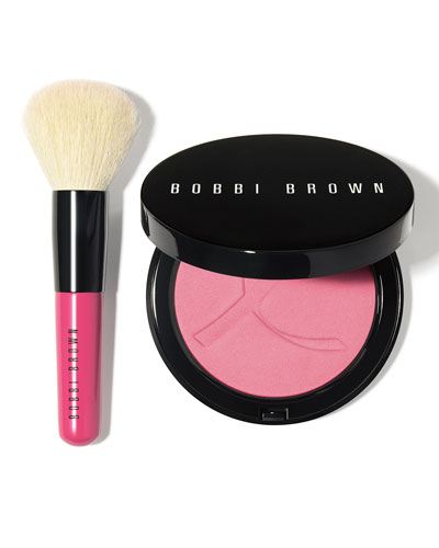 Limited Edition Illuminating Bronzing Powder and Mini Face Blender Brush