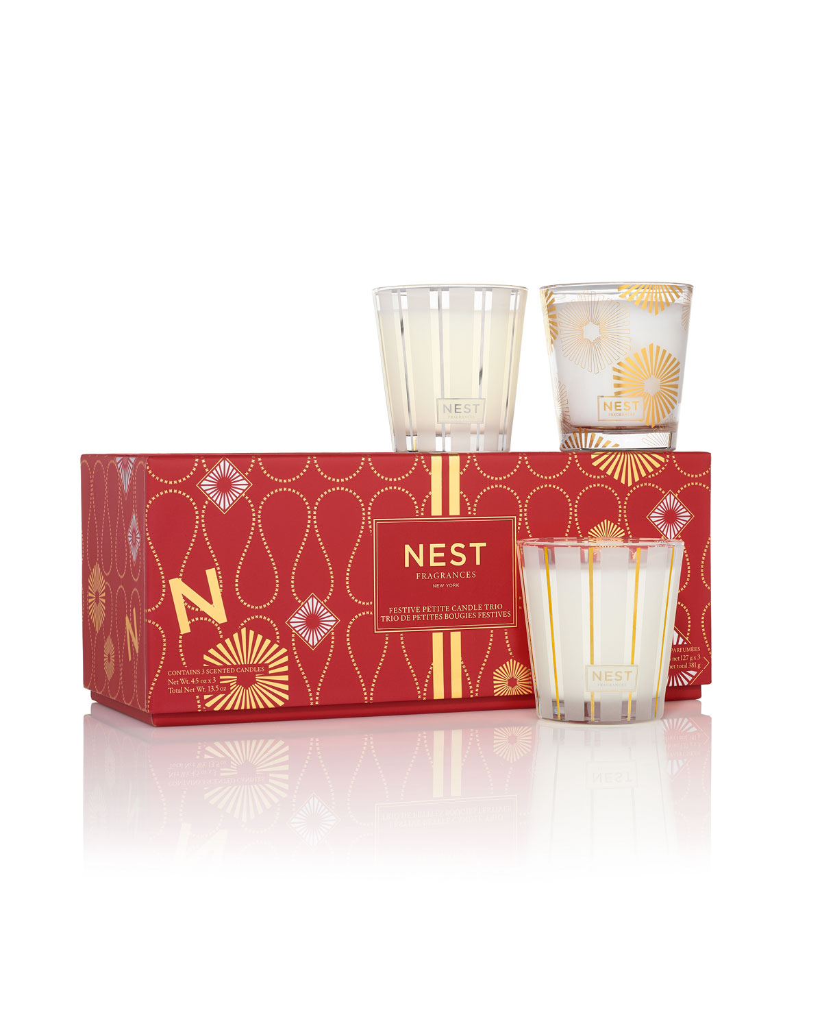 Festive Candle Trio Set
