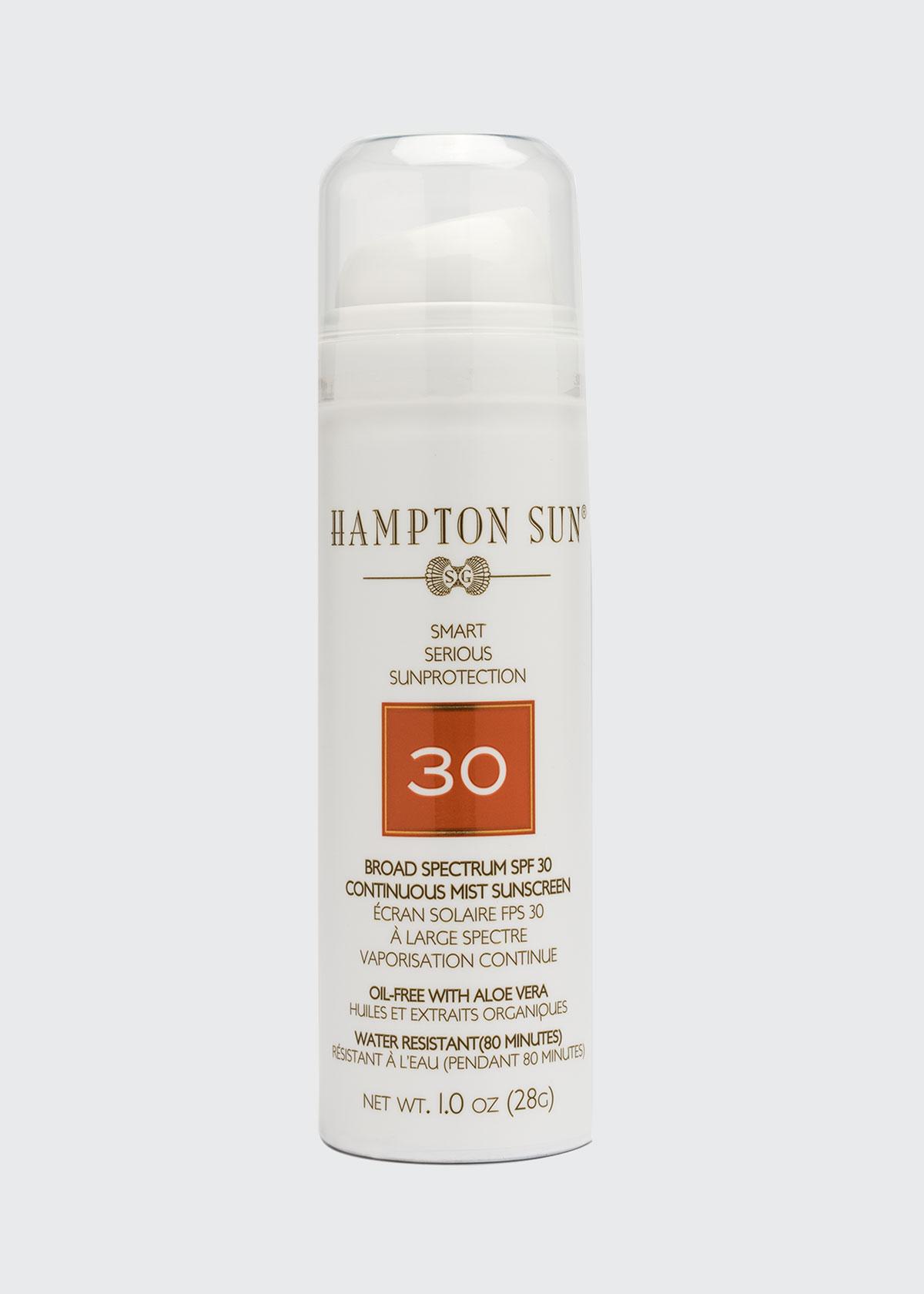 Hampton Sun SPF 30 CONTINUOUS MIST SUNSCREEN, 1 OZ./ 30 ML (TRAVEL SIZE)
