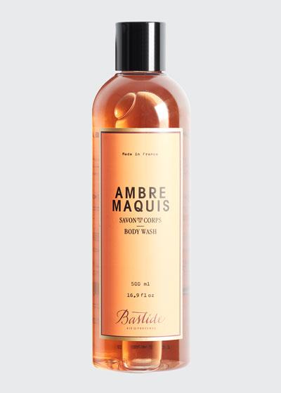 Ambre Maquis Body Wash, 17 oz./ 500 mL