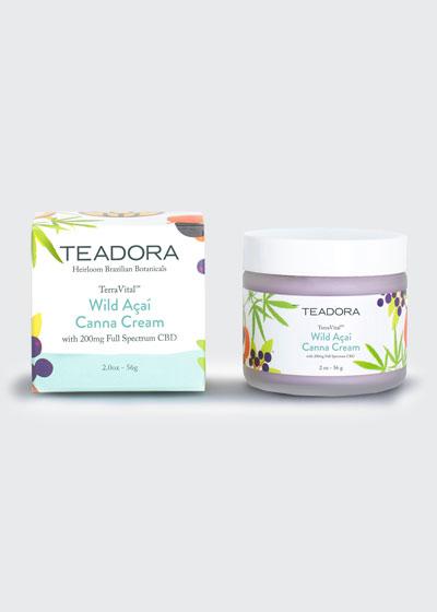 TerraVital Wild Acai Canna Cream with 200 mg of Full Spectrum CBD, 2 oz./ 56 g