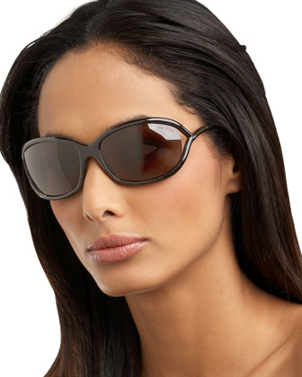 Jennifer Sunglasses, Dark Brown