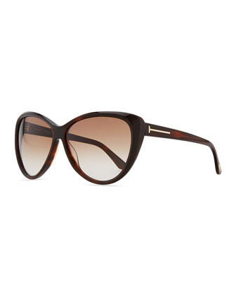 Malin Cat-Eye Sunglasses, Havana