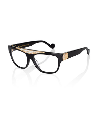 Beyond Glistening Fashion Glasses, Black/Golden