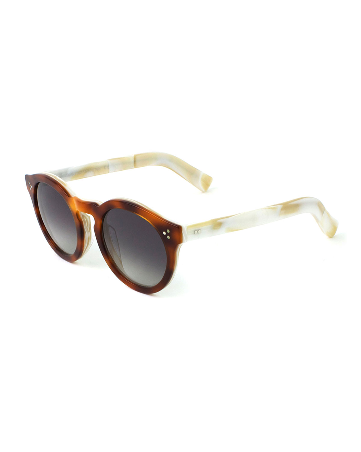 Leonard II Sunglasses, Brown/White