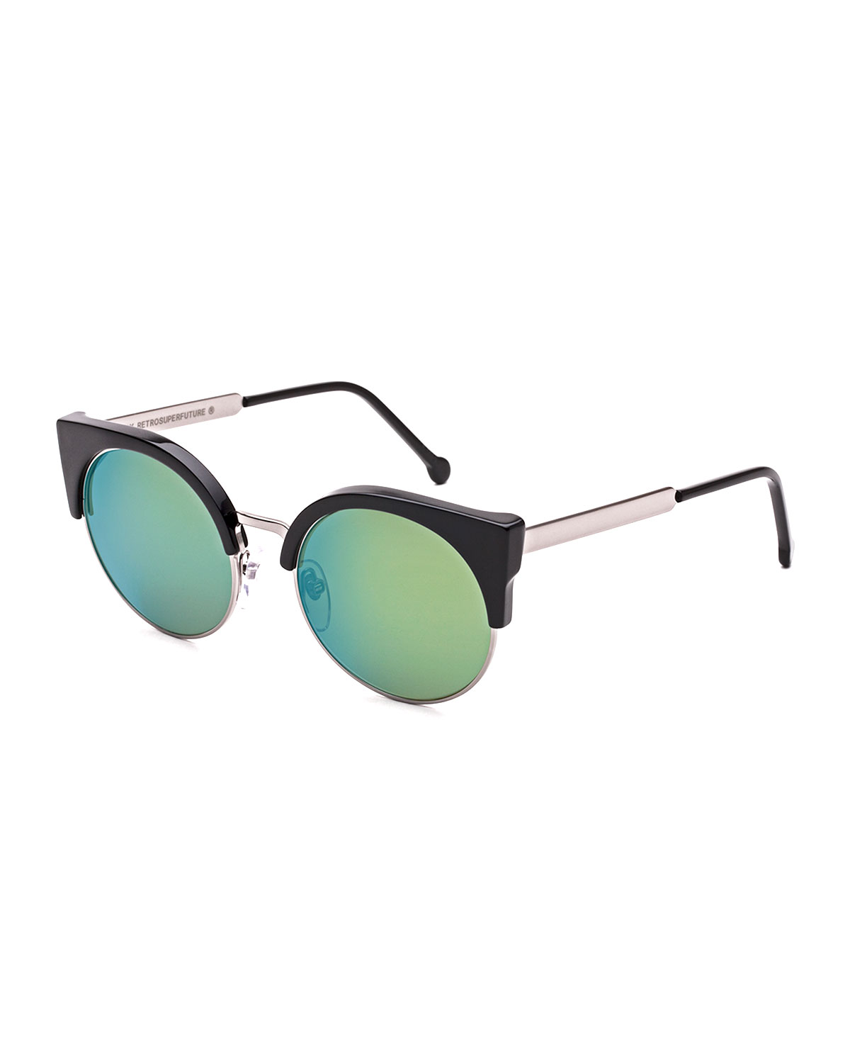 Ilaria Mirrored Iridescent Sunglasses, Patrol