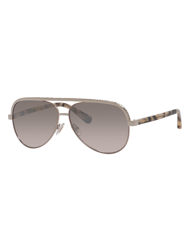 Lina Rhinestone Aviator Sunglasses